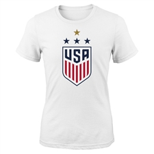 Nike USA Women's 4 Star Crest T-Shirt (White)