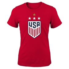 Nike USA Women's 4 Star Crest T-Shirt (University Red)