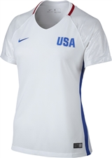 Nike Women's USA 2016 OLYMPIC RIO Soccer Jersey (White/Royal/Red)