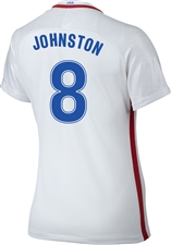 Nike Women's USA 2016 OLYMPIC RIO 'JOHNSTON 8' Soccer Jersey (White/Royal/Red)
