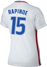 Nike Women's USA 2016 OLYMPIC RIO 'RAPINOE 15' Soccer Jersey (White/Royal/Red)