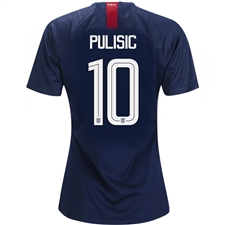 Nike USA Women's 'PULISIC 10' Away Stadium Jersey '18-'19 (Midnight Navy/Blue Nebula/White)