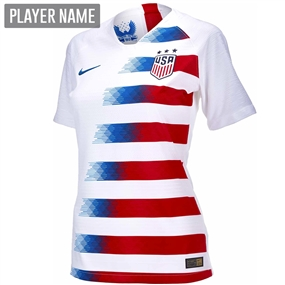 Nike USA Women's Home Stadium Jersey '18-'19 (White/Speed Red/Blue Nebula)