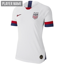 Nike USA Women's 2019 Home Vapor Match Jersey (White/Blue Void/University Red)