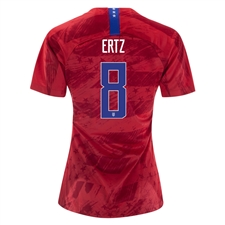 Nike USA 'ERTZ 8' Women's 2019 Away Stadium 4-Star Jersey (Speed Red/Bright Blue)