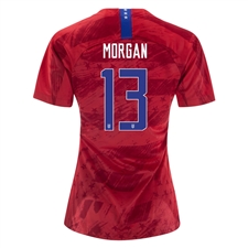 Nike USA 'MORGAN 13' Women's 2019 Away Stadium 4-Star Jersey (Speed Red/Bright Blue)