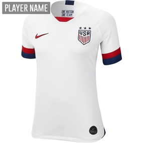 Nike USA Women's 2019 Home Stadium Jersey (White/Blue Void/University Red)