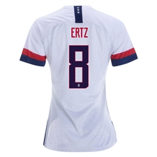 Nike USA 'ERTZ 8' Women's 2019 Home Stadium 4-Star Jersey (White/Blue Void/University Red)