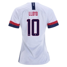 Nike USA 'LLOYD 10' Women's 2019 Home Stadium 4-Star Jersey (White/Blue Void/University Red)
