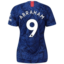Nike Women's Chelsea 'ABRAHAM 9' Home Stadium Jersey '19-'20 (Rush Blue/White)