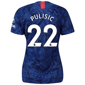 Nike Women's Chelsea 'PULISIC 22' Home Stadium Jersey '19-'20 (Rush Blue/White)