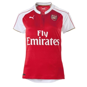 Puma Arsenal Home '15-'16 Women's Soccer Jersey (High Risk Red/White)
