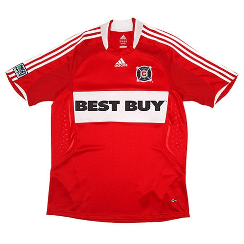 buy popular 173f5 58703 Adidas MLS Chicago Fire Youth Home Replica 2008 Jersey (Red/White)