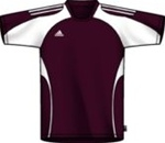 Adidas Youth Toque Soccer Jersey (Light Maroon/White)
