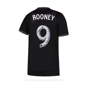 Adidas Youth MLS D.C. United 'ROONEY 9' 2018 Primary Replica Jersey (Black)
