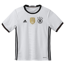 Adidas Germany Home Youth 2015-16 Soccer Jersey (White/Black)