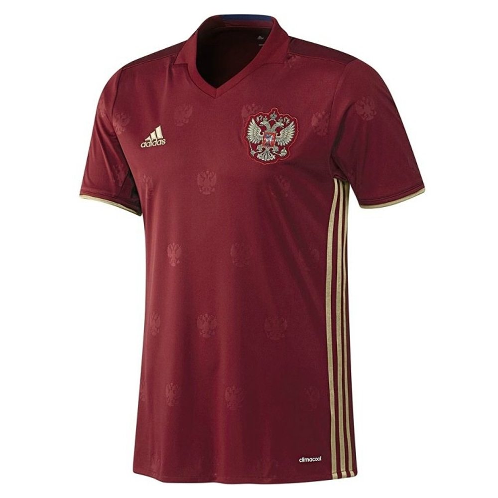 664e7efe9 Adidas Russia 2015-16 Home Youth Soccer Jersey (Burgundy Dark Football Gold)