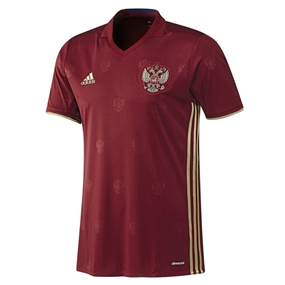 Adidas Russia 2015-16 Home Youth Soccer Jersey (Burgundy/Dark Football Gold)