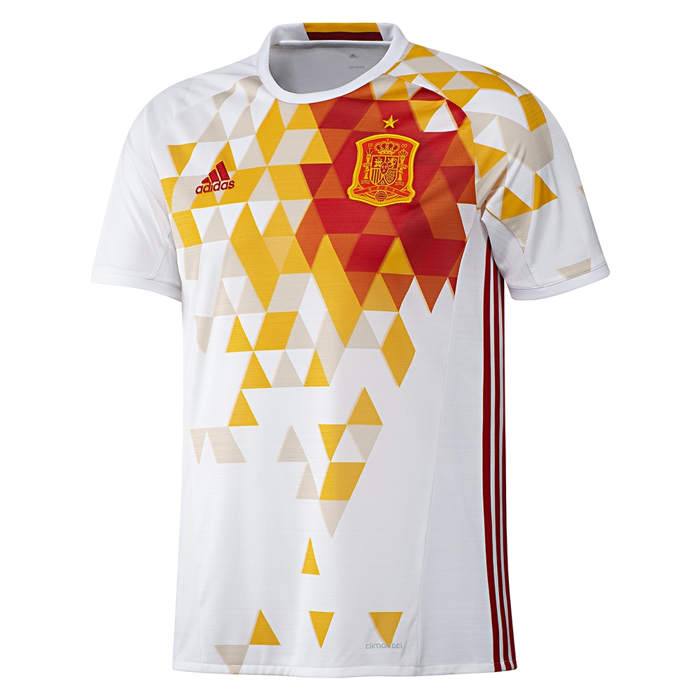 69.99 - Add to Cart for Price - Adidas Spain Youth Away 2015-16 Soccer  Jersey (White Power Red)  d716b6993