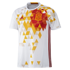 Adidas Spain Youth Away 2015-16 Soccer Jersey (White/Power Red)