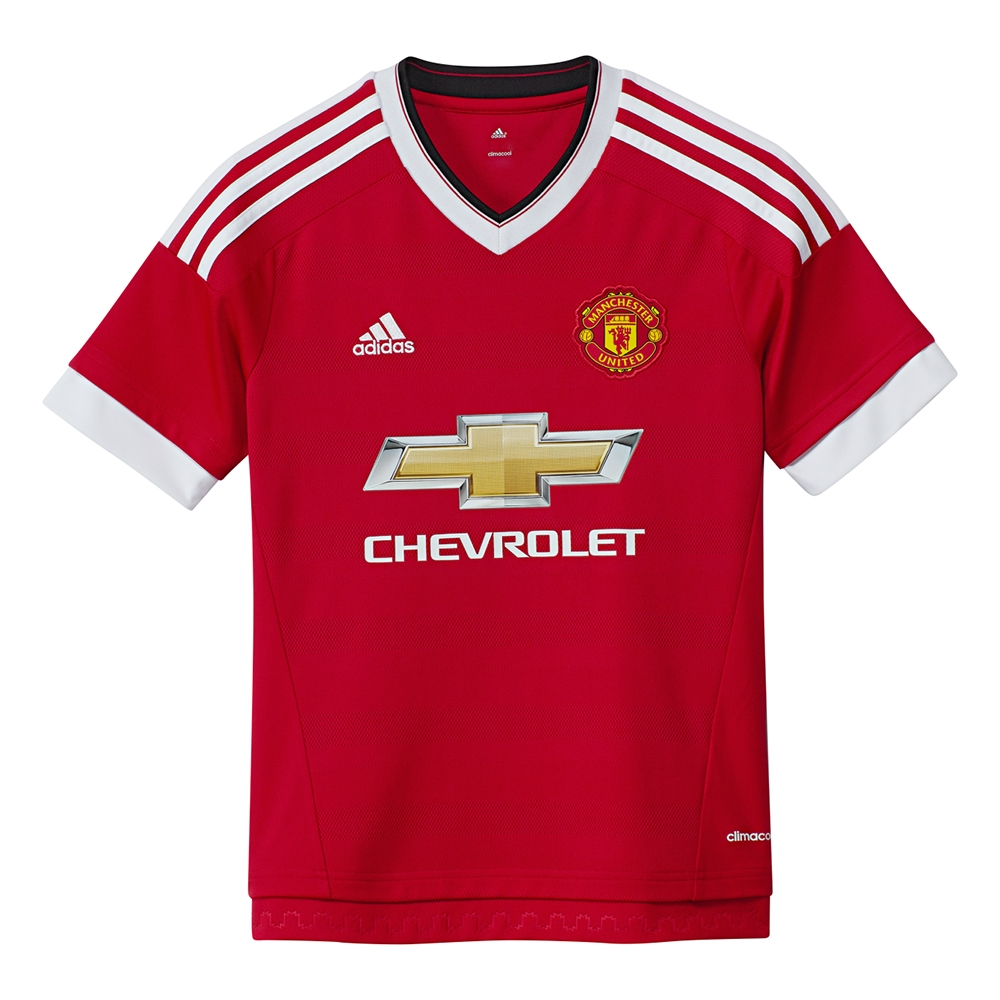 a103b831b96 Adidas Manchester United Youth Home '15-'16 Soccer Jersey (Real Red ...