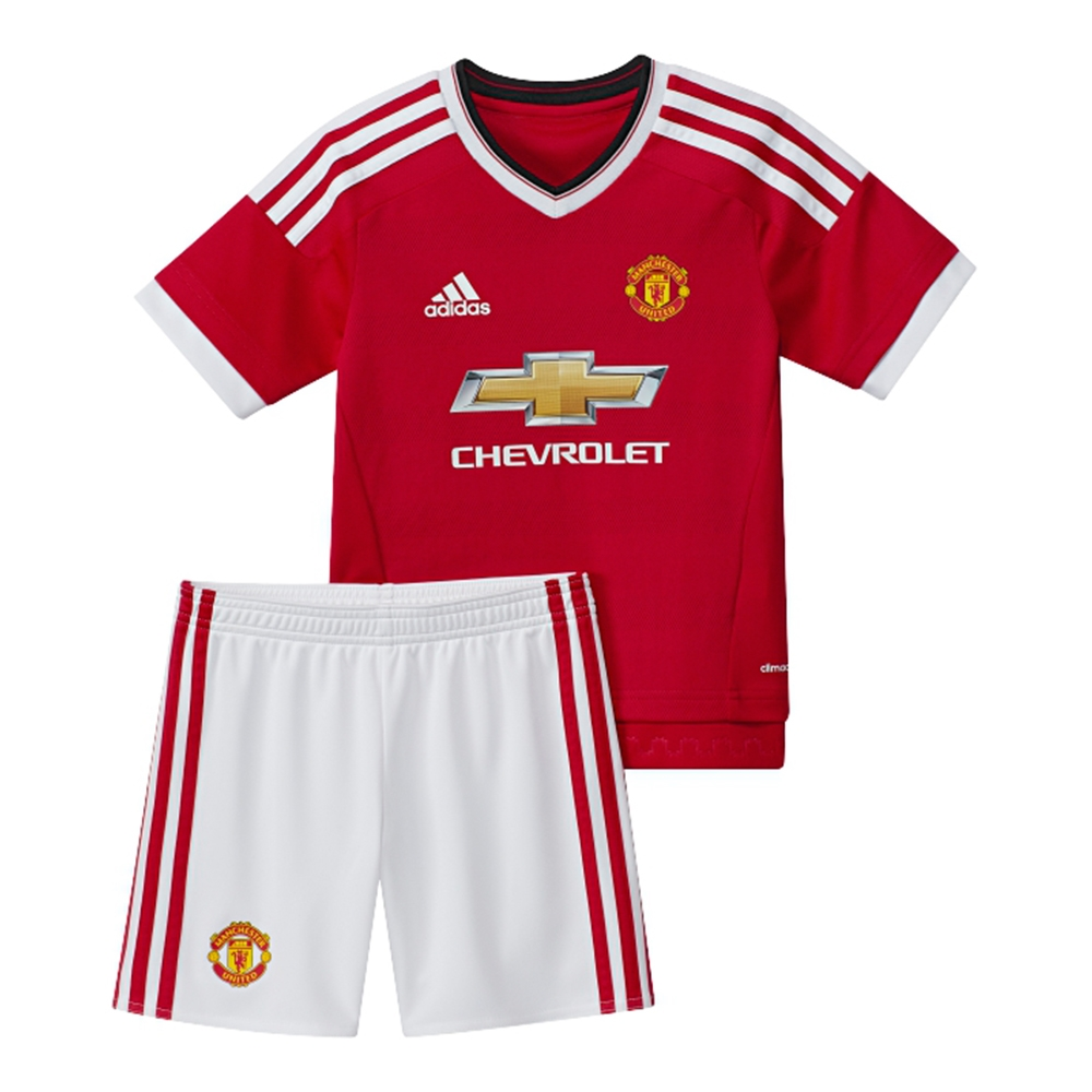 designer fashion 69fa0 ad9f5 Adidas Manchester United Home Mini '15-'16 Soccer Kit (Real Red/White)