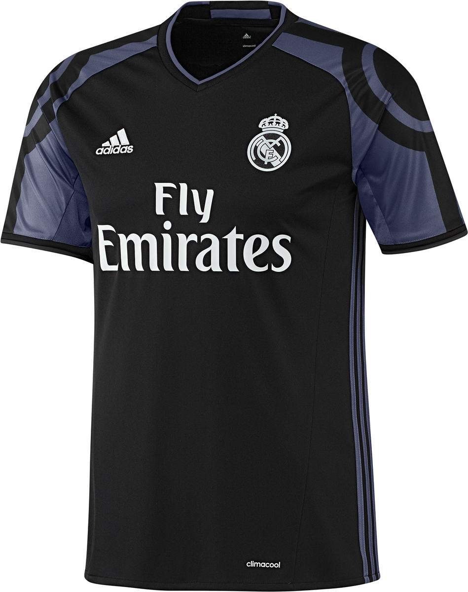 adidas real madrid third 16 17 youth soccer jersey black purple