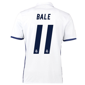 Adidas Real Madrid 'BALE 11' Home '16-'17 Youth Soccer Jersey (White/Blue)