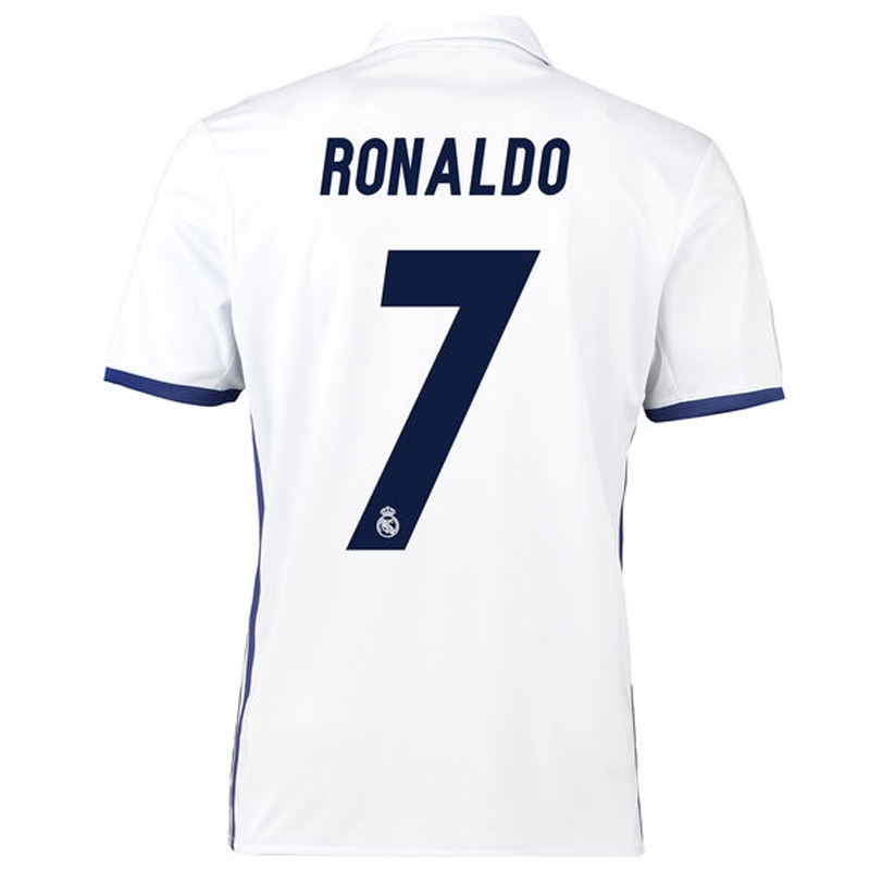 new product d3371 5c85e Adidas Real Madrid 'RONALDO 7' Home '16-'17 Youth Soccer Jersey (White/Blue)