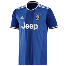 Adidas Youth Juventus '16-'17 Away Soccer Jersey (Blue/Black/White)