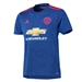 Adidas Youth Manchester United Away '16-'17 Soccer Jersey (Royal Blue/Red)