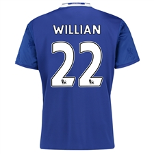 Adidas Youth Chelsea 'WILLIAN 22' Home '16-'17 Replica Soccer Jersey (Chelsea Blue/White)
