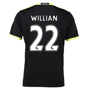 Adidas Youth Chelsea 'WILLIAN 22' Away '16-'17 Replica Soccer Jersey (Black/Grey/Solar Yellow)