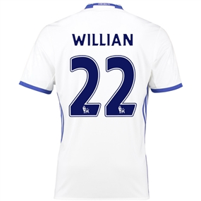 Adidas Youth Chelsea 'WILLIAN 22' Third '16-'17 Replica Soccer Jersey (White/Chelsea Blue)