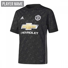 Adidas Youth Manchester United Away '17-'18 Soccer Jersey (Black/White/Sharp Grey)