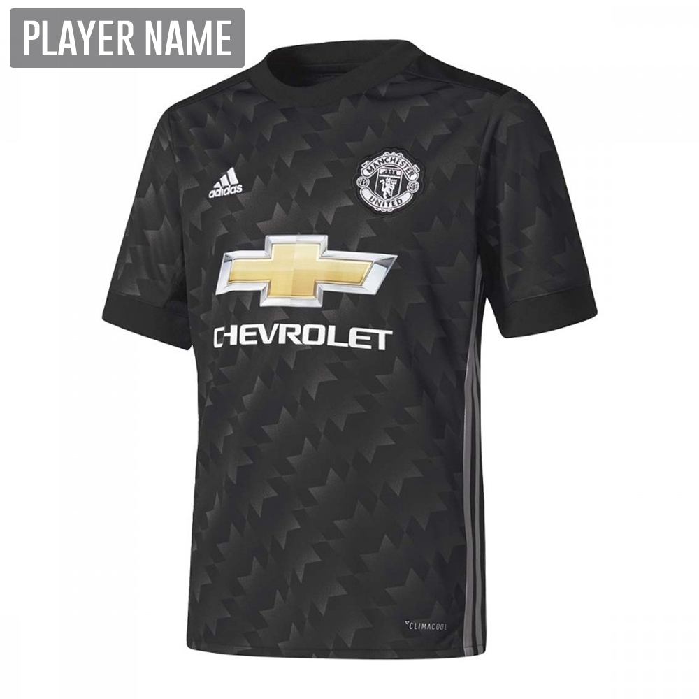 Adidas Youth Manchester United Away  17- 18 Soccer Jersey (Black ... 25be90679