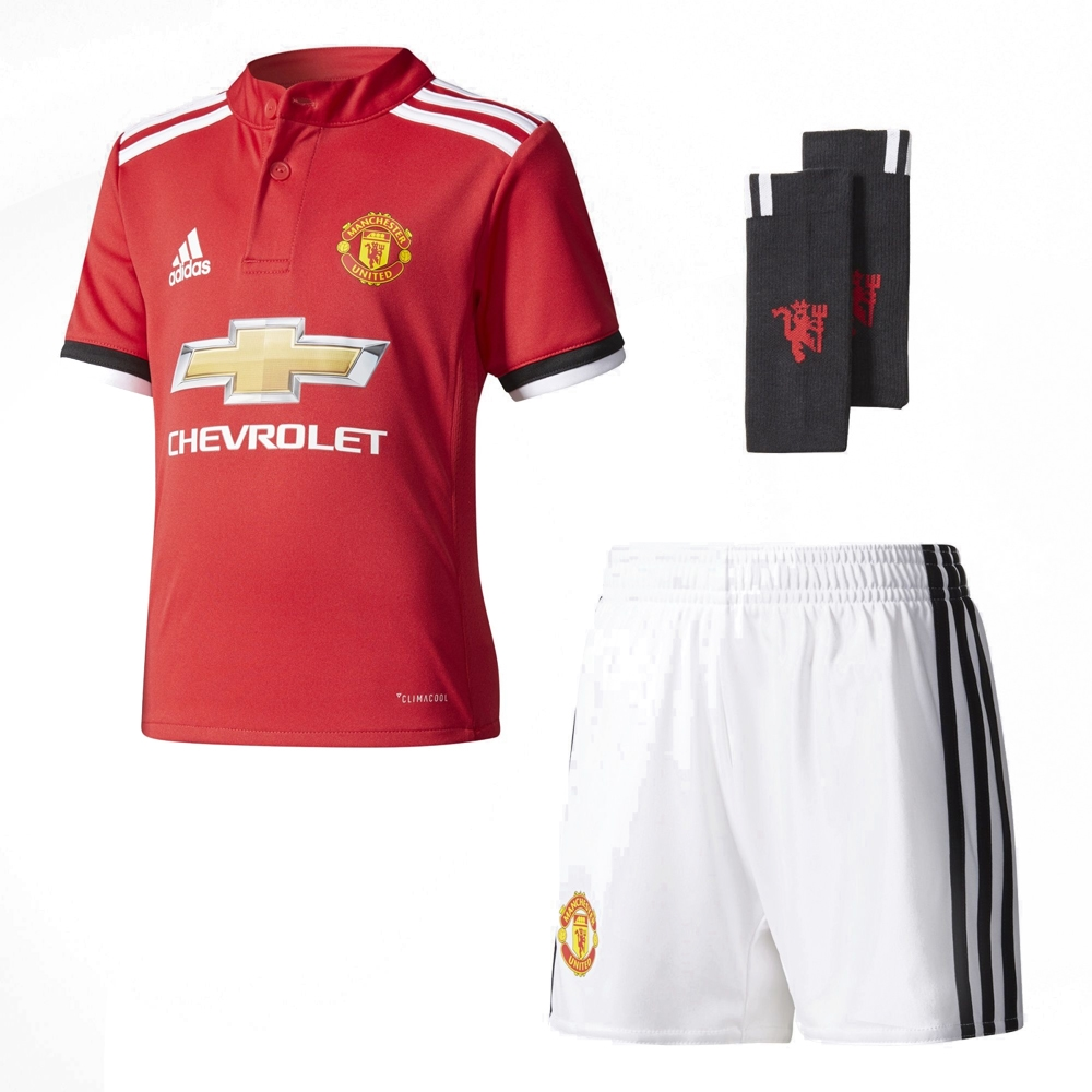 203d56d1d Adidas Manchester United Home  17- 18 Mini Kit (Real Red White Black ...