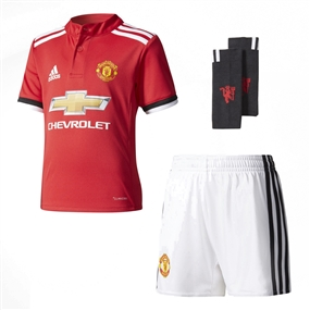 Adidas Manchester United Home '17-'18 Mini Kit (Real Red/White/Black)