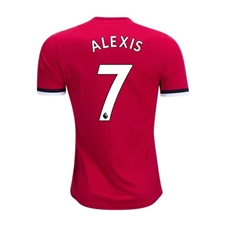 Adidas Manchester United Youth 'ALEXIS 7' Home '17-'18 Soccer Jersey (Real Red/White/Black)