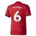 Adidas Manchester United Youth 'POGBA 6' Home '17-'18 Soccer Jersey (Real Red/White/Black)
