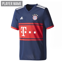 Adidas Youth Bayern Munich Away '17-'18 Soccer Jersey (Collegiate Navy/FCB True Red)