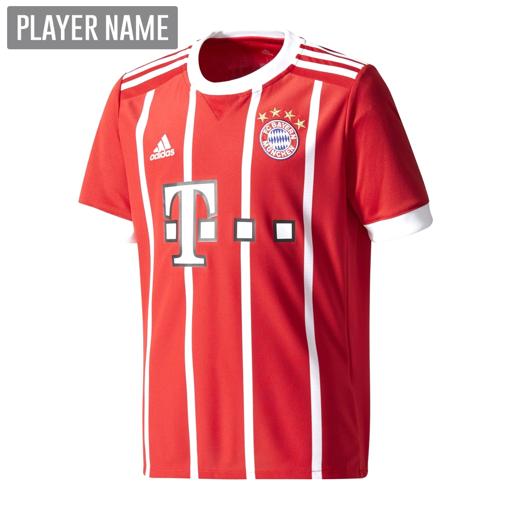 ... Adidas Youth Bayern Munich Home  17- 18 Soccer Jersey (Red White 083176ff7d426