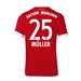 Adidas Youth Bayern Munich 'MULLER 25' Home '17-'18 Soccer Jersey (Red/White)