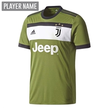 Adidas Juventus Youth Third '17-'18 Soccer Jersey (Craft Green/Black)