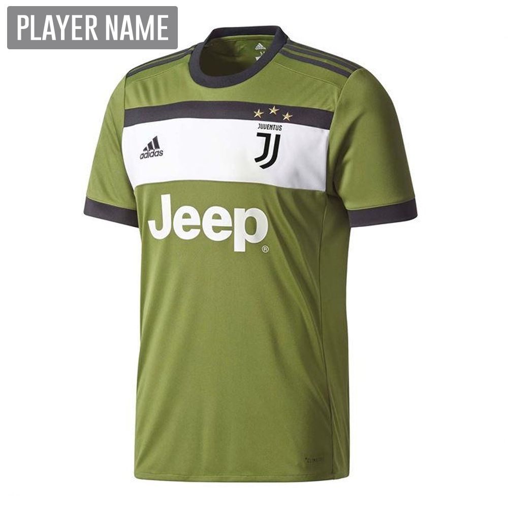new product 9e364 e6128 Adidas Juventus Youth Third '17-'18 Soccer Jersey (Craft Green/Black)