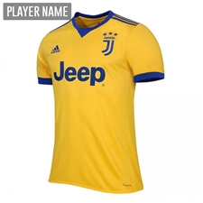 Adidas Juventus Youth Away '17-'18 Soccer Jersey (Bold Gold/Collegiate Royal)