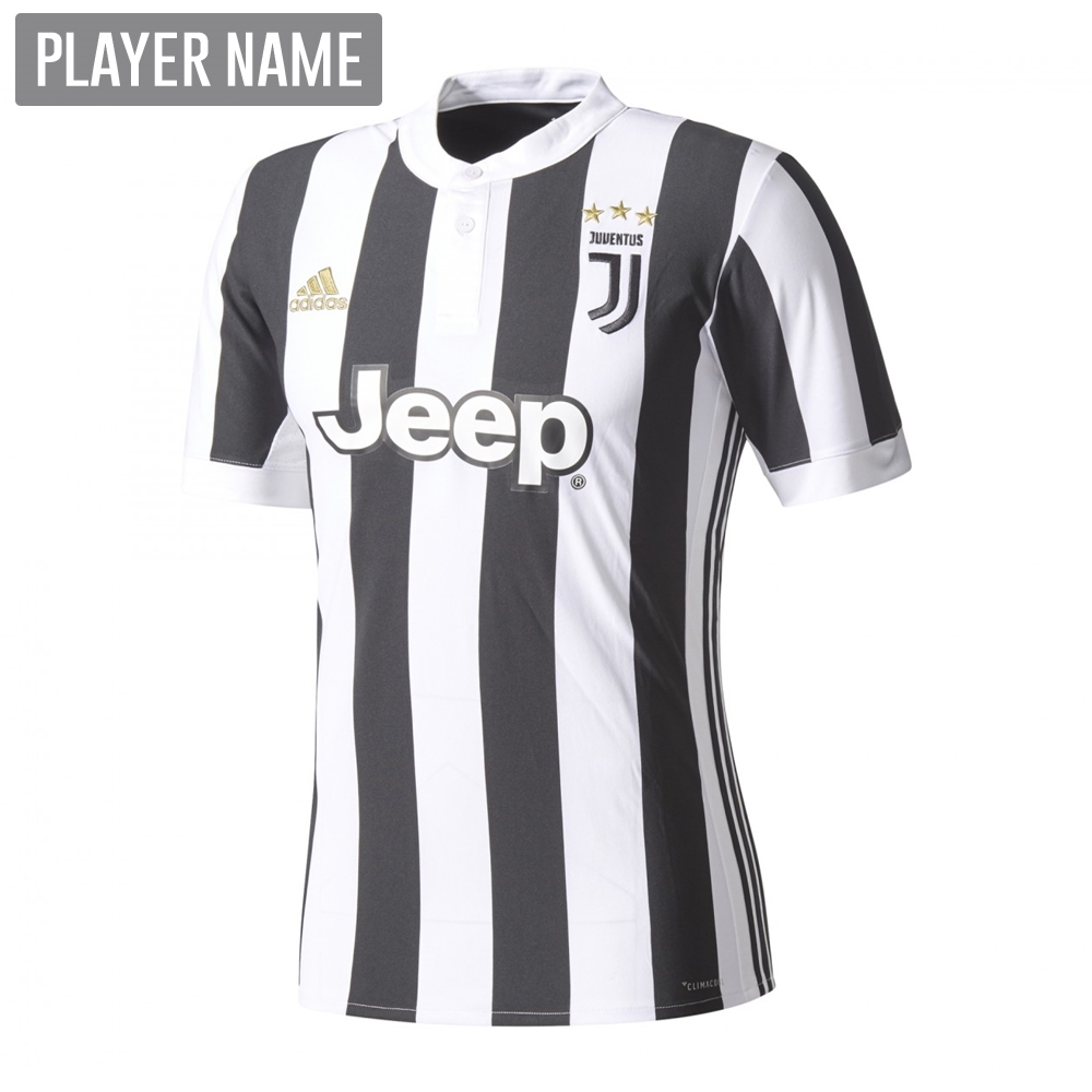 super popular 94373 1d509 Adidas Juventus Youth Home '17-'18 Soccer Jersey (White/Black)