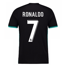 Adidas Real Madrid 'RONALDO 7' Away '17-'18 Youth Soccer Jersey (Black/Aero Reef)