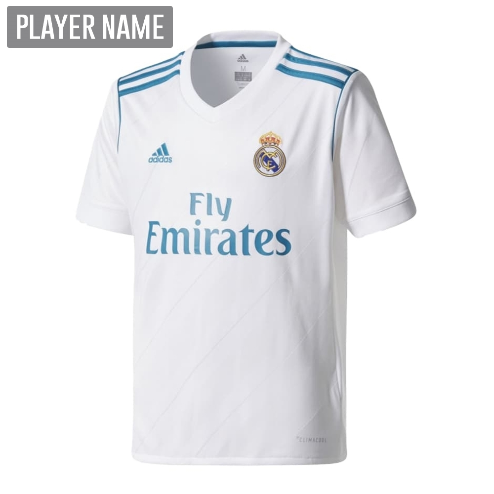 ... jerseys from z234558606  adidas real madrid home 17 18 youth soccer  jersey white vivid 0728a5e7c