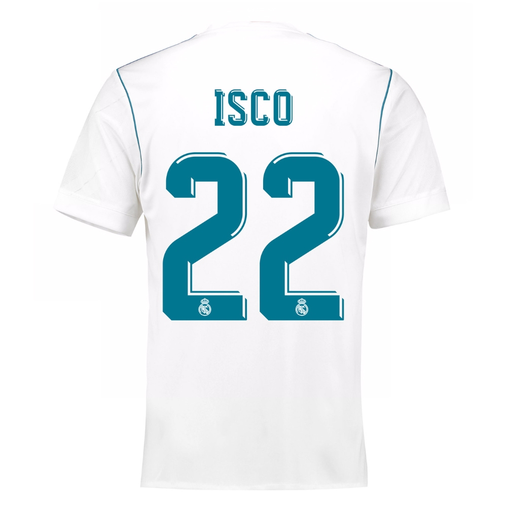 45340cac8ea Adidas Youth Real Madrid  ISCO 22  Home  17- 18 Soccer Jersey (White ...